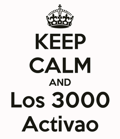 Poster: KEEP CALM AND Los 3000 Activao