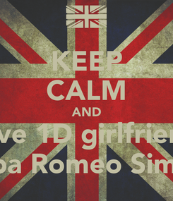 Poster: KEEP CALM AND love 1D girlfriend Alba Romeo Simón