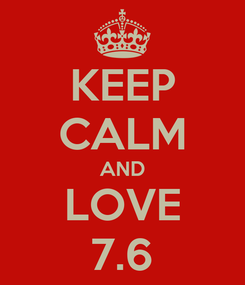 Poster: KEEP CALM AND LOVE 7.6