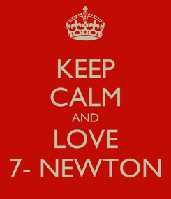 Poster: KEEP CALM AND LOVE 7- NEWTON