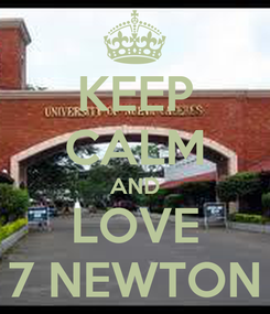 Poster: KEEP CALM AND LOVE 7 NEWTON