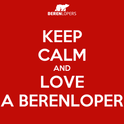 Poster: KEEP CALM AND LOVE A BERENLOPER