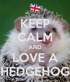 Poster: KEEP CALM AND LOVE A HEDGEHOG