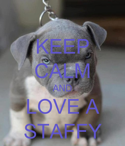 Poster: KEEP CALM AND LOVE A STAFFY