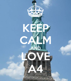Poster: KEEP CALM AND LOVE A4