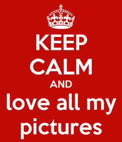 Poster: KEEP CALM AND love all my pictures