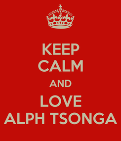 Poster: KEEP CALM AND LOVE ALPH TSONGA