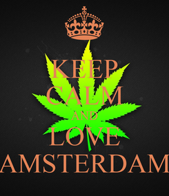 Poster: KEEP CALM AND LOVE AMSTERDAM