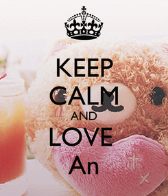 Poster: KEEP CALM AND LOVE  An