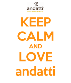 Poster: KEEP CALM AND LOVE andatti