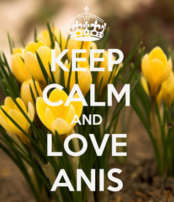 Poster: KEEP CALM AND LOVE ANIS
