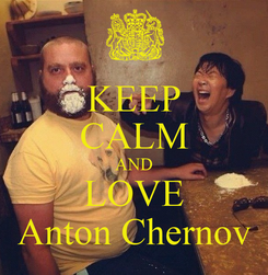 Poster: KEEP CALM AND LOVE Anton Chernov