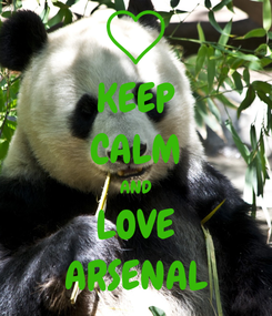 Poster: KEEP CALM AND LOVE ARSENAL