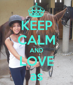 Poster: KEEP CALM AND LOVE as