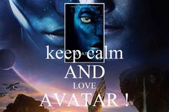 Poster: keep calm AND LOVE AVATAR ! by aaron