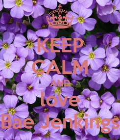 Poster: KEEP CALM AND love Bae Jenkings