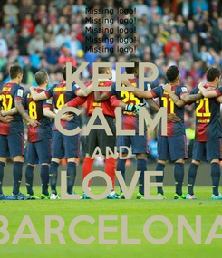 Poster: KEEP CALM AND LOVE BARCELONA
