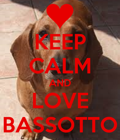 Poster: KEEP CALM AND LOVE BASSOTTO