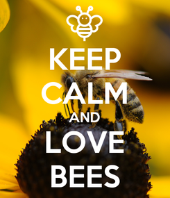 Poster: KEEP CALM AND LOVE BEES