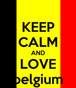 Poster: KEEP CALM AND LOVE belgium