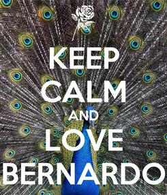 Poster: KEEP CALM AND LOVE BERNARDO