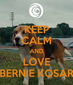 Poster: KEEP CALM AND LOVE BERNIE KOSAR