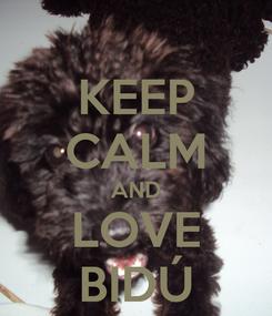 Poster: KEEP CALM AND LOVE BIDÚ