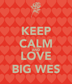 Poster: KEEP CALM AND LOVE BIG WES
