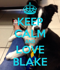Poster: KEEP CALM AND LOVE BLAKE