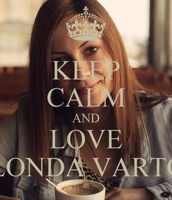 Poster: KEEP CALM AND LOVE BLONDA VARTOP
