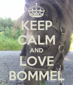 Poster: KEEP CALM AND LOVE BOMMEL