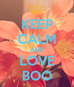 Poster: KEEP CALM AND LOVE BOO