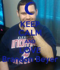 Poster: KEEP CALM AND LOVE Brandon Beyer