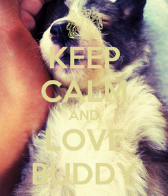 Poster: KEEP CALM AND LOVE BUDDY