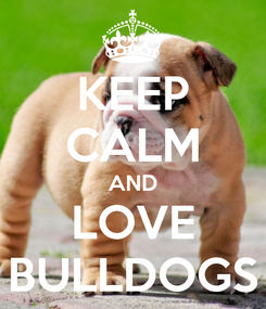 Poster: KEEP CALM AND LOVE BULLDOGS