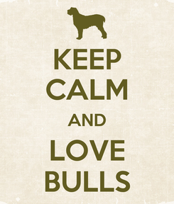 Poster: KEEP CALM AND LOVE BULLS