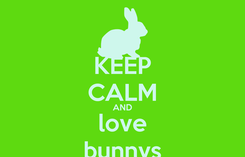 Poster: KEEP CALM AND love bunnys