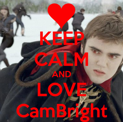 Poster: KEEP CALM AND LOVE CamBright