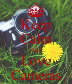 Poster: Keep Calm And Love Cameras
