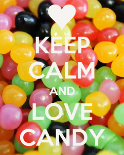Poster: KEEP CALM AND LOVE CANDY