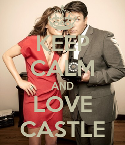 Poster: KEEP CALM AND LOVE CASTLE