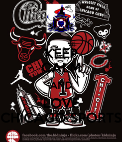 Poster: KEEP CALM AND LOVE CHICAGO SPORTS