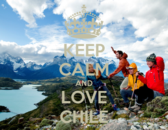 Poster: KEEP CALM AND LOVE CHILE