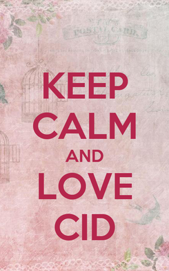 Poster: KEEP CALM AND LOVE CID