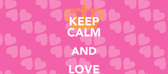 Poster: KEEP CALM AND LOVE CLYDE!