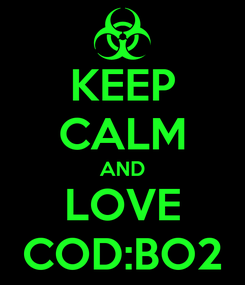 Poster: KEEP CALM AND LOVE COD:BO2