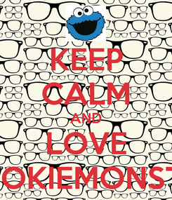 Poster: KEEP CALM AND LOVE COOKIEMONSTER