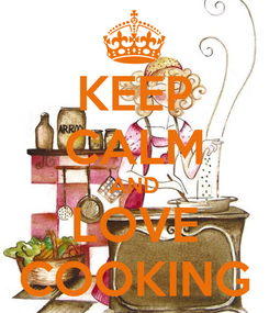Poster: KEEP CALM AND LOVE COOKING