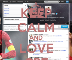Poster: KEEP CALM AND LOVE CR7