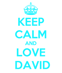 Poster: KEEP CALM AND LOVE  DAVID